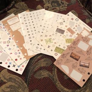 Authentic Louis Vuitton Personal Planner Stickers